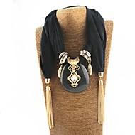povoljno -Žene Ogrlica od šalova Long Statement dame Kićanka slatko Poly / Cotton Obala Crn Sive boje 180 cm Ogrlice Jewelry 1pc Za Nova Godina Kamado roštilj