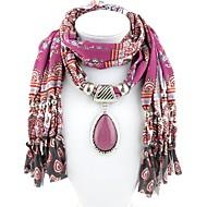 povoljno -Žene Ogrlica od šalova Long dame Romantični Casual / sportski Šarene Poly / Cotton Pink 180 cm Ogrlice Jewelry 1pc Za Maškare Spoj