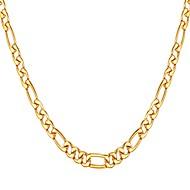 ieftine -Bărbați Lănțișoare Figaro lanț Mariner Chain Modă Teak Negru Auriu Argintiu 55 cm Coliere Bijuterii 1 buc Pentru Cadou Zilnic