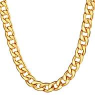ieftine -Bărbați Lănțișoare Link cubanez Mariner Chain Hiperbolă Modă Hip Hop Teak Negru Auriu Argintiu 55 cm Coliere Bijuterii 1 buc Pentru Cadou Zilnic