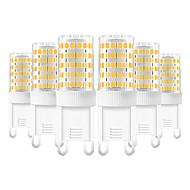 povoljno -YWXLIGHT® 6kom 10 W LED svjetla s dvije iglice 600-800 lm G9 T 86 LED zrnca SMD 2835 Toplo bijelo Hladno bijelo Prirodno bijelo 220-240 V