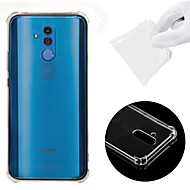 Case For Huawei Huawei Mate 20 Lite Shockproof / Transparent Back Cover Solid Colored Soft TPU for Huawei Mate 20 lite