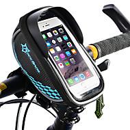 رخيصةأون -ROCKBROS حقيبة الهاتف الخليوي حقيبة دراجة الإطار حقيبة المقود للدراجة الشاشات التي تعمل باللمس عاكس مقاوم للماء حقيبة الدراجة TPU EVA بوليستر حقيبة الدراجة حقيبة الدراجة iPhone X / iPhone XR / iPhone