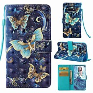 Coque Pour Samsung Galaxy S9 / S9 Plus / S8 Plus Portefeuille / Porte Carte / Clapet Coque Intégrale Papillon Dur faux cuir