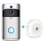 رخيصةأون -hqcam® اللاسلكية wifi كاميرا الجرس 1.0 النائب الذكية واي فاي فيديو إنترفون مدمج المتكلم خارج للشقق ir إنذار