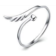 رخيصةأون -نسائي خاتم 1PC فضي S925 فضة Geometric Shape موضة هدية مناسب للبس اليومي مجوهرات كلاسيكي أجنحة محبوب