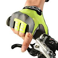 رخيصةأون -ROCKBROS قفازات الدراجة دراجة جبلية متنفس مكافح الانزلاق يلف العرق واقي للصبيان للفتيات Fingerless نصف اصبع أنشطة / قفازات الرياضة ليكرا أخضر إلى للأطفال الخارج