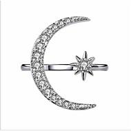 povoljno -Žene Otvori Prsten Kubični Zirconia 1pc Zlato Obala Pozlaćeni Geometric Shape Moda Vjenčanje Party Jewelry Klasičan Polumjesec Lijep