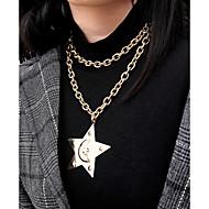 ieftine -Pentru femei Coliere cu Pandativ Lănțișor Elegant Romantic Aluminiu Auriu Argintiu 35.5 cm Coliere Bijuterii 1 buc Pentru Cadou Zilnic Serată Dată Festival / Coliere Layered