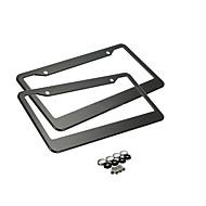 povoljno -okvir za crne registarske pločice, 2 kom ploče od nehrđajućeg čelika za automobil s tankim dizajnom s kape za pranje vijaka za nas standard