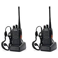 2 יחידות baofeng bf-888s מכשיר קשר 888s 5 w 2800 mah 16 ערוצים 400-470 mhz uhf fm משדר 6 m דו כיווני רדיו comunicador למירוץ חיצוני (תן אוזניות)