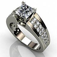 povoljno -Muškarci Žene Prsten Kubični Zirconia 1pc Obala Kamen Geometric Shape Stilski Angažman Dnevno Jewelry Klasičan Radost Cool