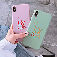 hoesje voor apple iphone xr / iphone xs max patroon achterkant cartoon / word / phrase soft tpu voor iphone 6 6 plus 6s 6splus 7 8 7plus 8plus x xs xr xsmax
