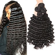 povoljno -4 paketića Brazilska kosa Duboko Val Virgin kosa Ljudske kose plete Bundle kose Ekstenzije od ljudske kose 8-28 inch Prirodna boja Isprepliće ljudske kose Odor Free Rasprodaja Za crnkinje Proširenja