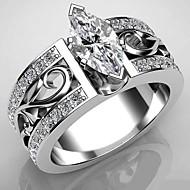 Damen Bandring Ring Kubikzirkonia 1pc Weiß Kupfer Geometrische Form Modisch Party Geschenk Schmuck Fische Cool