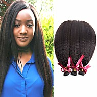 povoljno -6 paketića Brazilska kosa Kinky Ravno Virgin kosa Ljudske kose plete Bundle kose Jedan Pack Solution 8-28 inch Prirodna boja Isprepliće ljudske kose Odor Free Nježno Rasprodaja Proširenja ljudske kose