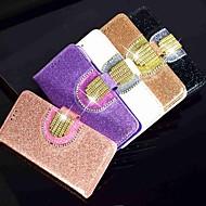 Case For Samsung Galaxy A6 (2018) / A6+ (2018) / Galaxy A7(2018) Wallet / Card Holder / Rhinestone Full Body Cases Glitter Shine Hard PU Leather
