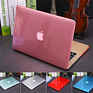 cheap -Solid Colored Crystal Translucent Cover For MacBook Pro Air Retina 11/12/13/15 Inch (A1278-A1989) Plastic Hard Case