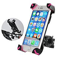 رخيصةأون -ROCKBROS حامل الجوال للدراجة مكافح الانزلاق المضادة للاهتزاز 360 درجة طيران إلى دراجة الطريق دراجة جبلية BMX PVC iPhone X iPhone XS iPhone XR ركوب الدراجة أسود زهري 1 pcs