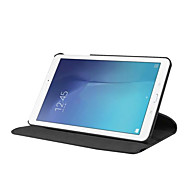 olcso -Case Kompatibilitás Samsung Galaxy Tab E 9.6 360° forgás / Ütésálló / Állvánnyal Héjtok Egyszínű Kemény PU bőr