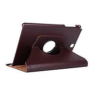 olcso -Case Kompatibilitás Samsung Galaxy Tab A 9.7 360° forgás / Ütésálló / Állvánnyal Héjtok Egyszínű Kemény PU bőr