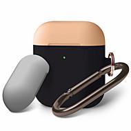 airpods duo závěsné pouzdro tělo kompatibilní s jablky airpods 2 přední led viditelné podporuje bezdrátové nabíjení karabiny pro airpods 2