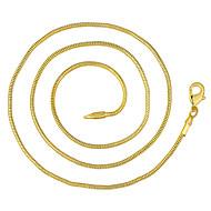 رخيصةأون -رجالي قلادات السلسلة كلاسيكي رخيص كلاسيكي أساسي موضة نحاس مطلية بالذهب ذهبي 46,56,61,66 cm قلادة مجوهرات 1PC من أجل مناسب للبس اليومي عمل