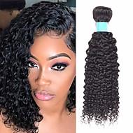 povoljno -6 paketića Brazilska kosa Kinky Curly Netretirana  ljudske kose Ljudske kose plete Bundle kose Jedan Pack Solution 8-28 inch Prirodna boja Isprepliće ljudske kose Odor Free Smooth Gust Proširenja