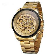 ieftine -Bărbați ceas mecanic Mecanism automat Auriu Gravură scobită Analog Modă - Auriu Alb Negru