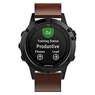 voordelige -Horlogeband voor Fenix 5s / Fenix 5s Quickfit / Fenix 5S Plus Garmin Leren lus Echt leer Polsband