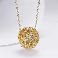 رخيصةأون -نسائي قلائد الحلي كلاسيكي التفاف الأسلاك فرح موضة مطلية بالذهب ذهبي 45+5 cm قلادة مجوهرات 1PC من أجل هدية مناسب للبس اليومي