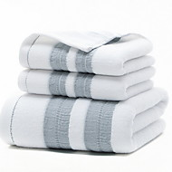 cheap -Superior Quality Bath Towel, Geometric Pure Cotton 2 pcs