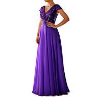 cheap -Women's Cocktail Party Prom Maxi Swing Dress Sequins Deep V Black Purple Beige S M L XL