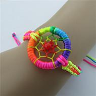 voordelige -Heren Dames loom Bracelet Gevlochten Dromenvanger Etnisch Legering Armband sieraden Rood / Groen / Blauw Voor Dagelijks Festival