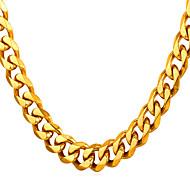 ieftine -Bărbați Lănțișoare Lănțișor Mariner Chain Simplu Rock Modă Oțel titan Negru Auriu Argintiu 66 cm Coliere Bijuterii 1 buc Pentru Cadou Zilnic Absolvire Școală Stradă