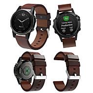 voordelige -Horlogeband voor Fenix 5s / Fenix 5S Plus / Fenix6s Garmin Leren lus Echt leer Polsband