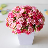 1Pc Artificial Plastic Flower 21 Diamond Rose 7 Fork Spring Small Rose Rose Bud Artificial Flower 22cm