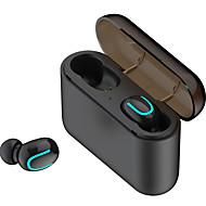 رخيصةأون -litbest q32 tws صحيح سماعات أذن بلوتوث اللاسلكية 5.0 في سماعة الأذن أيدي مكالمة مجانية الموسيقى مع 1500 مللي أمبير بطارية مربع قوة البنك للهواتف الذكية