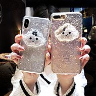 case voor apple iphone xs max / iphone 8 plus vloeiende vloeistof / schokbestendig / stofdicht achterkant 3d cartoon / glitter shine / hart zachte tpu voor iphone 7/7 plus / 8/6/6 plus / xr / x / xs