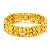 رخيصةأون -رجالي أساور السلسلة والوصلة ستايل خلاق موضة دبي 18K الذهب مجوهرات سوار ذهبي من أجل مناسب للحفلات مناسب للبس اليومي