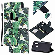 מגן עבור Samsung Galaxy A6 (2018) / A6+ (2018) / Galaxy A7(2018) ארנק / מחזיק כרטיסים / עמיד בזעזועים כיסוי מלא עֵץ עור PU