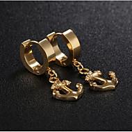 رخيصةأون -رجالي نسائي حلقات فينتاج مرساة أنيق الأقراط مجوهرات ذهبي / أسود / فضي من أجل هدية مناسب للبس اليومي 1 زوج
