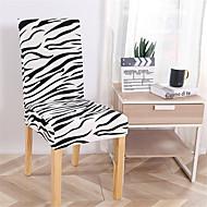 Зебра печати супер мягкий чехол на стул стрейч съемный моющийся столовая стул защитник чехлы домашнего декора столовая чехлы на сиденья