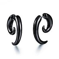 رخيصةأون -رجالي نسائي حلقات فينتاج سلسلة الطوطم أنيق الأقراط مجوهرات أسود من أجل هدية مناسب للبس اليومي 1 زوج