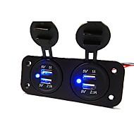 povoljno -5v 3.1a auto punjač dvije rupe ploča s 4 usb port vodootporan strujni adapteri utičnicu