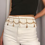 ieftine -Lanț Talie Simplu La modă Pentru femei Bijuterii de corp Pentru Petrecere Cadou Aliaj Auriu Argintiu 1 buc