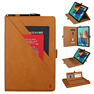 cheap -Case For Samsung Galaxy Samsung Tab S5e T720 10.5 / Samsung Tab A 10.1(2019)T510 Wallet / Card Holder / Shockproof Full Body Cases Solid Colored Hard Genuine Leather