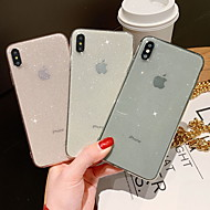 cheap -Case For Apple iPhone XR / iPhone XS Max / iPhone X Glitter Shine Back Cover Glitter Shine Soft TPU