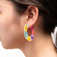 povoljno -Žene Naušnica Lopta Tropical Rock slatko Naušnice Jewelry Bijela / Duga Za diplomiranje Ulica Jabuka 1 par