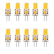 10pcs 2.5 W נורות שני פינים לד 3000 lm G4 1 LED חרוזים לבן חם לבן 12 V
